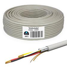 Telefonkabel 100m 2 x 2 0,6 Verlegekabel Kabel 4 Adern Telefonleitung unterputz