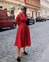 ZARA NEW SHIRT DRESS SIZE S