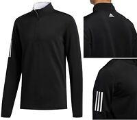 Adidas Golf 3 Stripe 1/4 Zip Pullover - Black - RRP£50 - SMALL LARGE XL