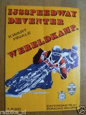 1980  WK ICESPEEDWAY KWARTFINALE DEVENTER 19/20 JANUARI 1980 PROGRAMME