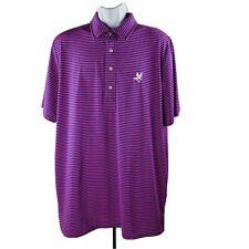 Ralph Lauren RLX Polo Golf Shirt XL Pink Blue Stripes Performance Short-Sleeve