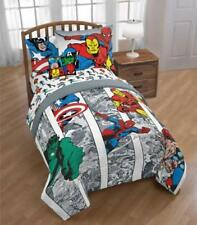 Marvel Comics Avengers Boys Twin Comforter, Sheets & BONUS Sham- 6 Pc Bed In Bag