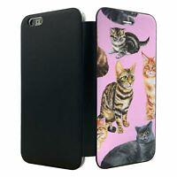 iPhone 6 PLUS Flip Wallet Case Cover Cats Pattern - S4283