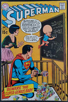 "Superman #224 Solid VF- 7.5 Nice Copy ""Super Genius Baby"" DC Comics 1970"