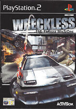 WRECKLESS THE YAKUZA MISSIONS for Playstation 2 PS2 - with box & manual - PAL