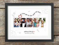 Personalised Daddy Dad Photo Print Gift Bespoke Birthday I Love You Present