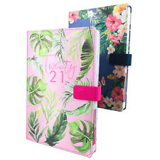 2021 Index Organiser A5 Page A Day Dairy Fabric Cover Planner Appointment Book
