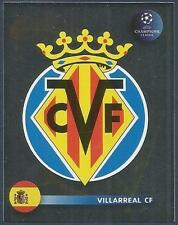 PANINI UEFA CHAMPIONS LEAGUE 2008-09- #519-VILLARREAL TEAM BADGE-SILVER FOIL
