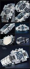 Attica Chronograph Watch Exclusive Model baguette-runde Stones Masterpiece NEW