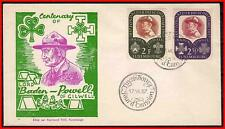 LUXEMBOURG 1957 BOY SCOUTS / LORD BADEN-POWELL FDC CV$18.00 (K-J18)