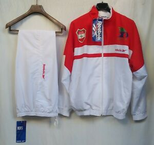 NWT Lebanon 1997 Beirut Pan Arab Games Reebok Full Tracksuit Jacket & Pants Sz S