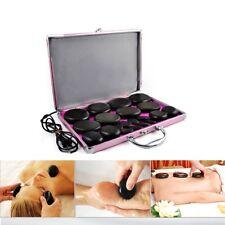 20x Professional Set of Hot Basalt Stone Massage Therapy With Heating Box Kit.