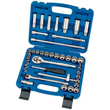 """Draper Expert® Hi-Torq 40 Piece 3/8""""dr Metric & AF Combined Socket Set 31058"""