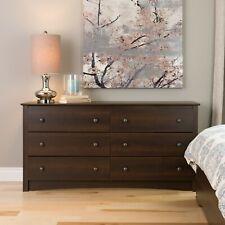 Fremont 6 Drawer Dresser - Espresso Bedroom Furniture New