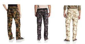 SOUTHPOLE Mens Basic Woodland Camouflage Camo 6 Pocket Cargo Pants pic size NWT