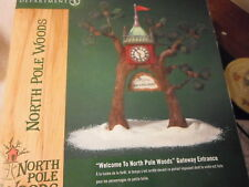 "Dept 56 North Pole Woods ""Welcome to the North Pole Woods"" Gateway sign"