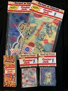 (4) Cracker Jack Animated Stationery Notebook NIP & (1) Note Pad
