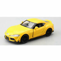 1:36 Toyota Supra Model Car Metal Diecast Gift Toy Vehicle Kids Pull Back Yellow