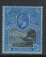 ST HELENA-1927 5/- Black & Blue/Blue.  A mounted mint example Sg 80
