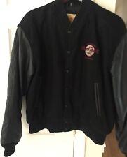 Vintage Hard Rock Cafe Leather Bomber Jacket - Size Medium