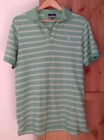 Lincoln Tshirt Green/white Striped Men's Size Medium <B338z