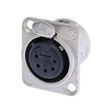 Neutrik NC5FD-L-1 5 PIN Female XLR Chassis Connector Socket Nickel D Type