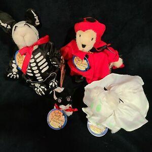 Muffy Vanderbear SCARED STIFF FOOLISH GHOULISH Muffy, Hoppy, Lulu, & Purrlie!