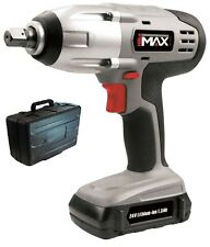 """HEAVY DUTY 24V LITHIUM ION 1/2"""" CORDLESS IMPACT WRENCH RATCHET & BATTERY IN CASE"""