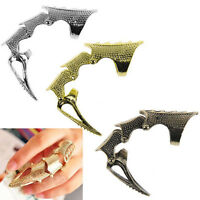 Gothic Punk Rings Rock Scroll Joint Armor Knuckle Metal Full Finger Claw Rings