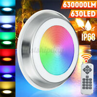 630W 630LED RGB Underwater Swimming Pool Light IP68 Fountain Light+Remote Y