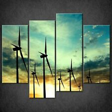 WIND TURBINES LANDSCAPE CANVAS PRINT PICTURE WALL ART FREE FAST DELIVERY
