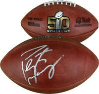 Peyton Manning Denver Broncos Autographed Super Bowl 50 Football - Fanatics