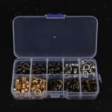 200 Sets Brass Grommets Eyelet with Washers for DIY Hand Craft Supplies