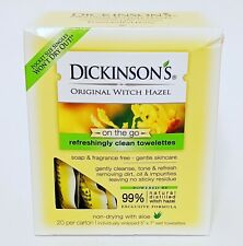 Dickinson original witch hazel oil controlling towelettes 20 Individually wrappe