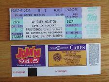 Unused Whitney Houston June 24, 1994 Providence Civic Center Ticket
