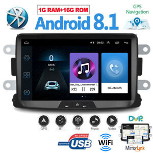 "8"" AUTORADIO ANDROID GPS For RENAULT CAPTUR DACIA DUSTER LOGAN SANDERO Dokker"