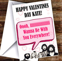 NEW PERSONALISED FLEETWOOD MAC VALENTINES DAY CARD ADD ANY NAME & TEXT!