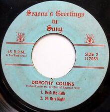 DOROTHY COLLINS a Top Rank artist 45 EP Deck The Halls POP Christmas w6616