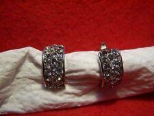 Snap Closure Diamond Round Costume Earrings