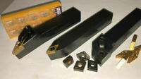 """5/8"""" NEW Lathe Turning Tool Holder SET X 3 CNMG/DCMT/VNMG CARBIDE INSERTS"""