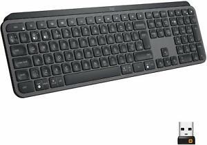 Logitech Black Authentic MX Keys Advanced Wireless Illuminated Keyboard sale