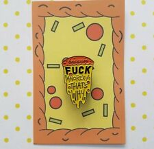 Eating Disorder Pizza Enamel Pin / Badge Anorexia Recovery