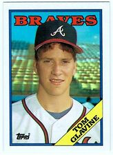 BRAVES HALL OF FAME P TOM GLAVINE- 1988 TOPPS ROOKIE CARD #779