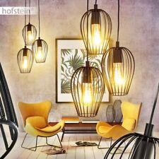 schwarze Retro Hänge Lampen Ess Wohn Schlaf Zimmer Beleuchtung Pendel Leuchten