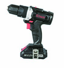 Eisen Ei008 20V Cordless Impact Drill 2-Speed 21+1 Position Keyless Clutch