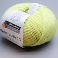 Schachenmayr Merino Extrafine 170 - 075 limone 50g Wolle (8.50 EUR pro 100 g)