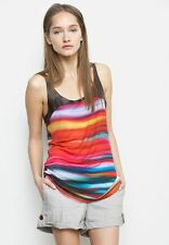 Graham & Spencer Marrakesh Tank Top Leather Brown / Pink Striped Knit Sz S