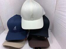 NEW  MENS KANGOL WOOL FLEX-FIT  BASE BALL CAP BLACK /BROWN / KHAKI / CREAM/ NAVY
