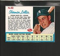 7133* 1962 Post # 53 Sherm Lollar NM-MT