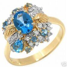 Dazzling Ring with 1.50ctw Genuine Diamonds and Topaz